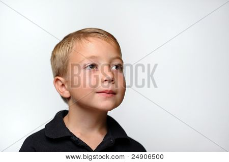 Young Boy Looking to Side