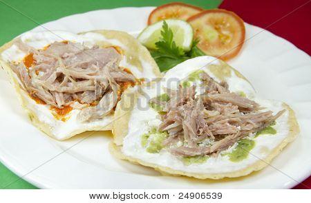 Pork Tostadas Mexican Dish