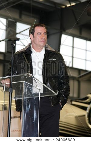 LOS ANGELES - SEPT 20: John Travolta at an Event announcing John Travolta as the Spokesperson for Bombardier at Hanger 25 on September 20, 2011 in Burbank, CA