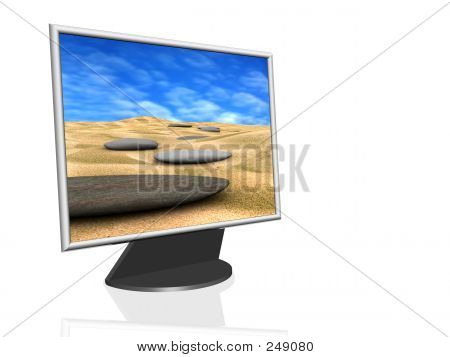Computer Monitor - Beach Image Wallpaper