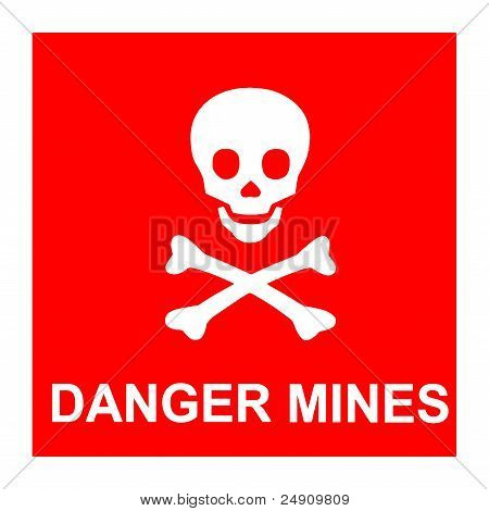 Danger Mines sign