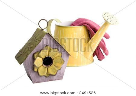 Birdhouse With Watering Can