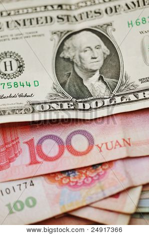 American And Chines Currency