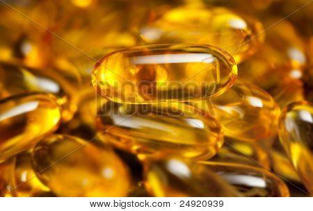 Close Up Of Fish Oil Capsules