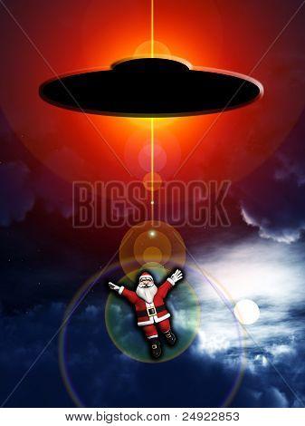 Alien Abducted Santa Claus