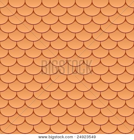 Seamless roof tiles. Vector.
