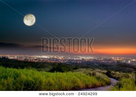 Beautiful Country view of sunset for background or others purpose use