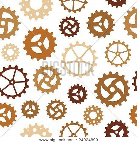 Different Gearwheels Seamless Background