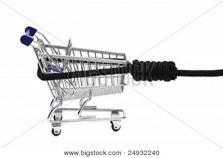 Shopping Addiction - Shoppingcart On Gibbet
