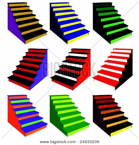 Steps In Various Color Combinations