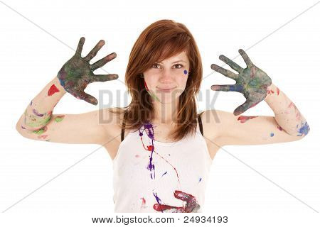 Messy Hands And Face