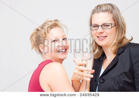 Two Women Celebrate Success