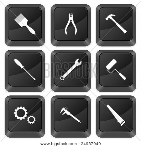 Computer Buttons Tools