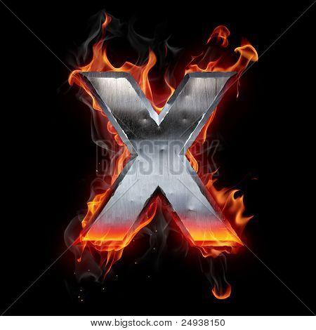 Letra de metal caliente