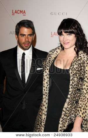 LOS ANGELES - NOV 5:  Eli Roth; Victoria Asher arrives at the LACMA Art + Film Gala at LA County Museum of Art on November 5, 2011 in Los Angeles, CA