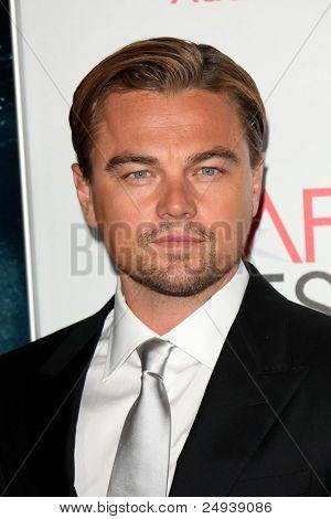LOS ANGELES - NOV 3:  Leonardo DiCaprio arrives at the AFI FEST 2011 Presented By Audi -