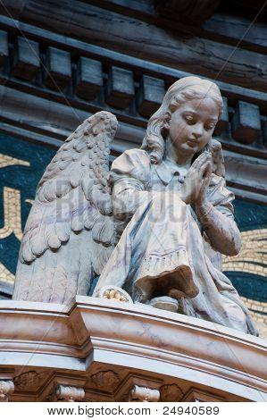 Girl-angel Praying