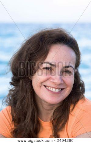 Woman Portrait On The Beach