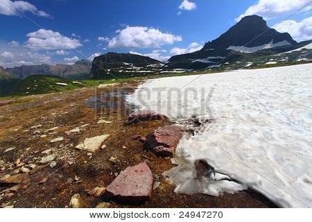 Logan Pass Snowfall