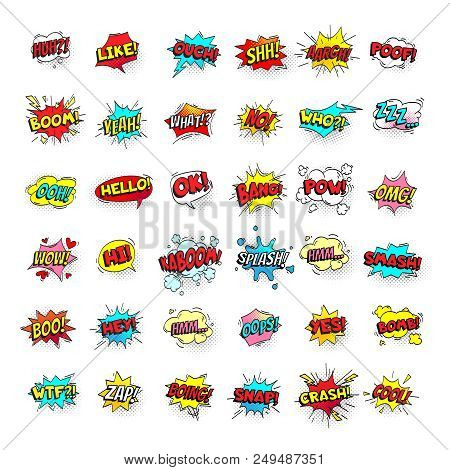 Comic Bubbles Cartoon Text Balloons