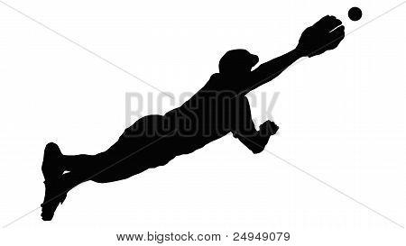 Baseball Diving Fielder