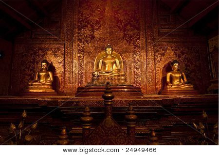 Buddha in the temple.