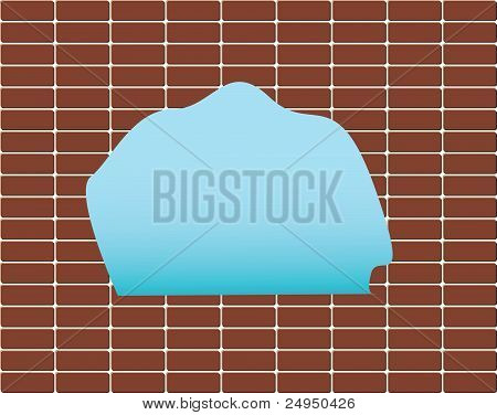 red wall in a brick background texture