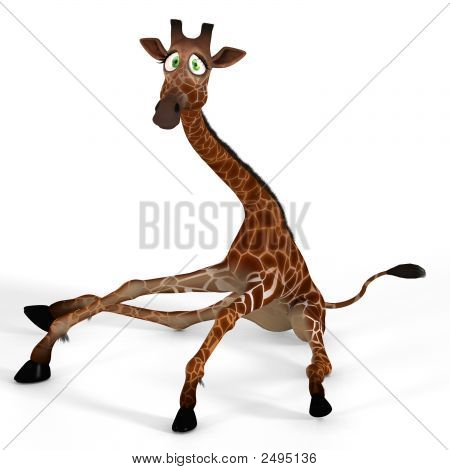 Cute Giraffe With A Funny Face