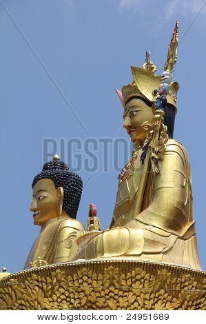 buddha and Padmasambhava