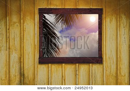 Open Window To Tropical View