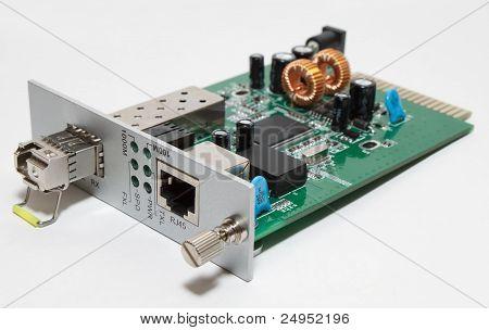 Fiber Optic Media Converter Card With Sfp