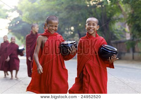 Young Novice Monks Myanmar