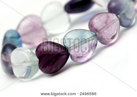 Glass Hearts Bracelet