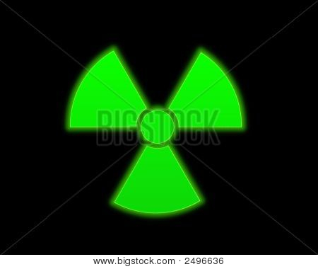 Green Radioactive Symbol