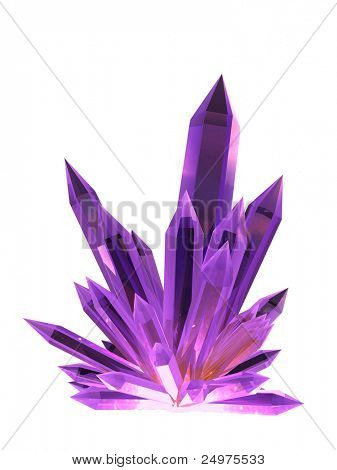 Crystal. Includes clipping path.
