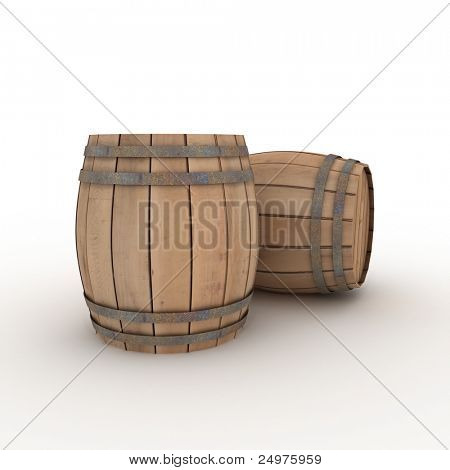 two casks