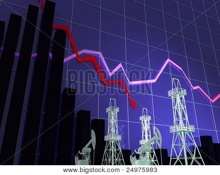 oil diagram. 3d rendering