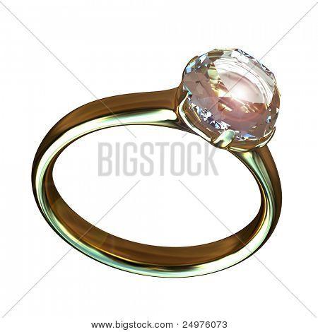Ring. 3d rendering