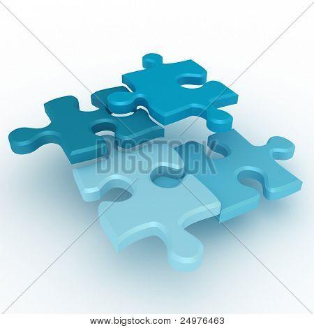 Puzzle 1. 3d rendering image.