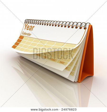 Desk calendar 1.  3d rendering