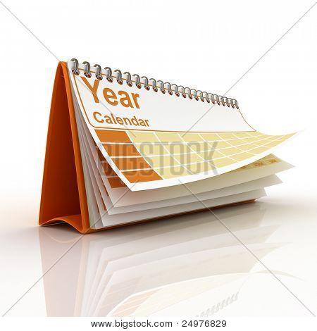 Desk calendar 2.  3d rendering