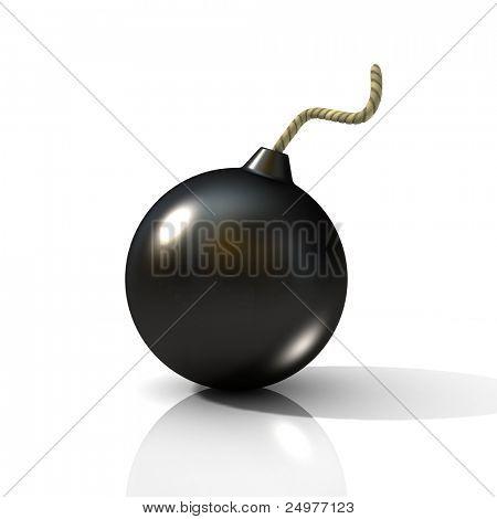 Grenade. 3d rendering image.