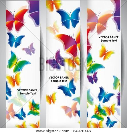 Butterfly vector banners