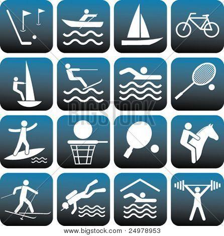 Sport Symbole festgelegt.
