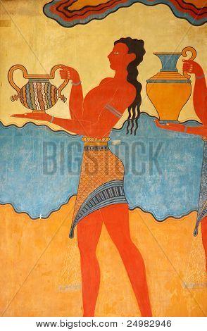 Knossos Palace mural