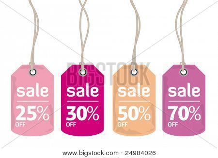 Retail sale price tags for every shopping season in vector