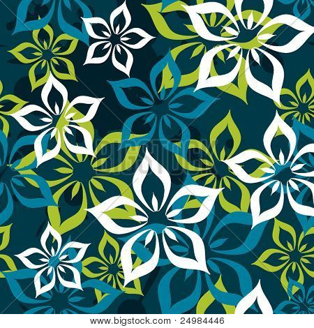 Seamless flower pattern in vector