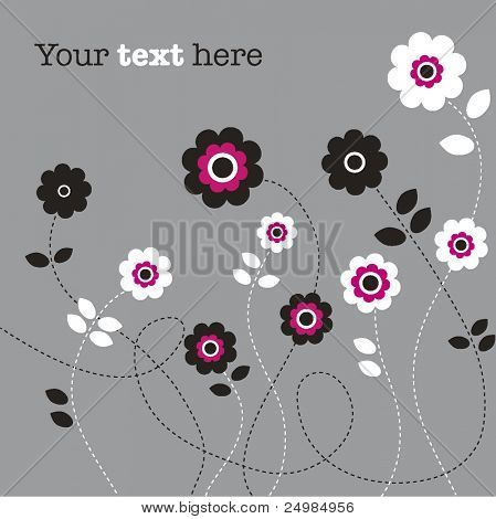 ute flower invitation card cover in vector