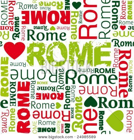 i love Rome seamless background pattern in vector
