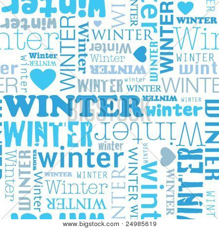 I love winter seamless background pattern in vector